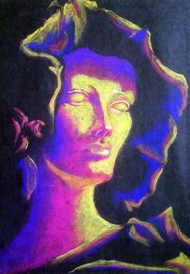 Venus Still Life - Chalk Sketch