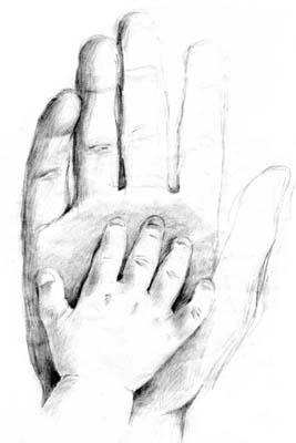 Hand In Hand - Pencil Sketch