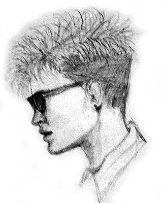 80's Girl - Pencil Sketch