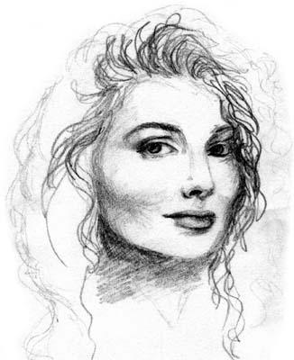 Paulina Porizkova - Pencil Sketch