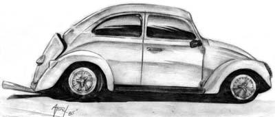 VW Bug - Pencil Sketch